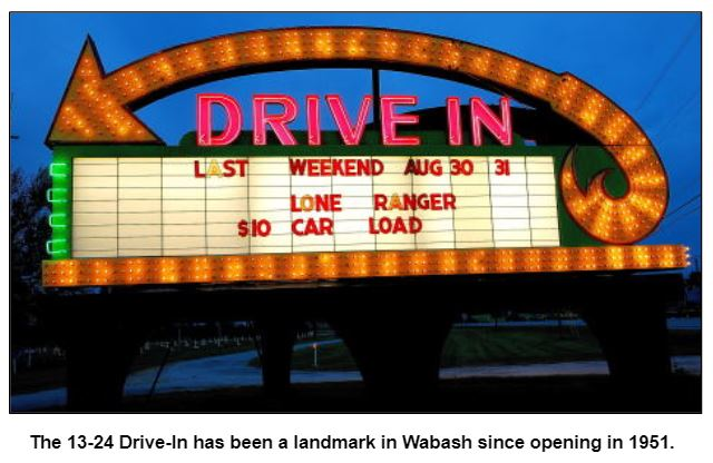 The 13-24 Drive-In has been a landmark in Wabash since opening in 1951.