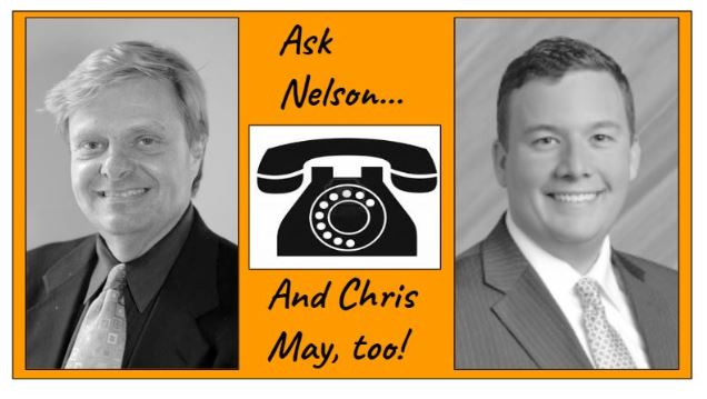 Ask Nelson...and Chris May, too.