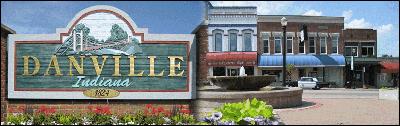 Danville, Ind., sign.