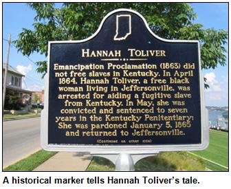Hannah Toliver historical marker.