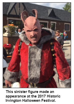 This sinister figure made an appearance at the 2017 Historic Irvington Halloween Festival.