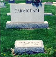 Hoagy Carmichael tombstone.