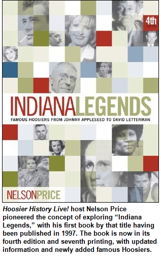 Cover of book, Indiana Legends, by Nelson Price.