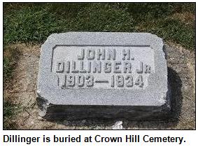 John Dillinger gravestone, 1903-1934