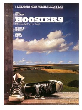 Movie poster: Hoosiers.