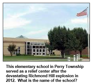 This elementary school in Perry Township served as a relief center after the devastating Richmond Hill explosion in 2012.  What is the name of the school?