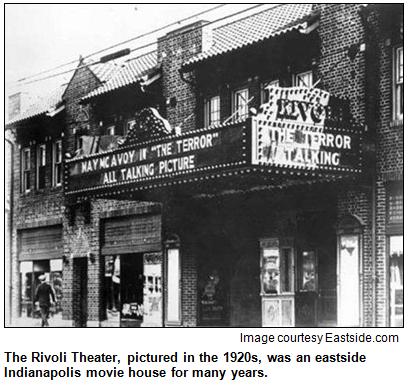 Rivoli Theatre in Indianapolis is pictured, circa 1920s.