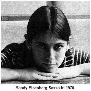 Sandy Eisenberg Sasso in 1970.