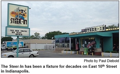 The Steer-In restaurant has been a fixture for decades on East 10th Street in Indianapolis. Photo by Paul Diebold.