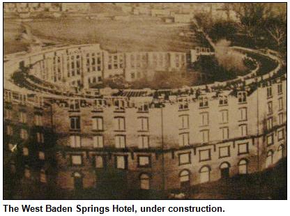 West Baden Springs Hotel, under construction.