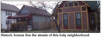 Historic homes in Indy's Ransom Place neighborhood.