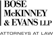 Bose McKinney and Evans logo.