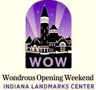 Logo for Indiana Landmarks Wondrous Opening Weekend.