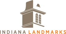 Indiana Landmarks logo.
