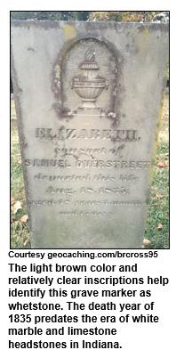 whetstone grave marker